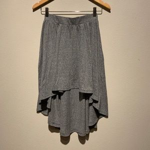 UO Sparkle & Fade heather gray high-low skirt